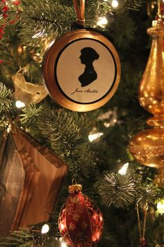 Jane Austen ornament miniature, made for my 2013 book themed Christmas tree.