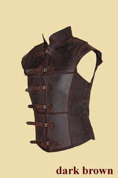 Reinforced jerkin for men made of leather by Larperlei on Etsy
