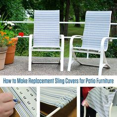 Replacing the fabric on sling chairs House ideas Pinterest