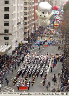 Winston Churchill H.S. Marching Band San Antonio Texas 2014 Macy's Thanksgiving Day Parade Photo
