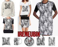 This pattern was inspired by a blouse worn by Audrey Horne on Twin Peaks episode 1.2 https://www.redbubble.com/people/ireneubik/works/25516225-black-trees-twin-peaks-inspired?asc=u #ididathing #ireneubik #inspiration, #aesthetic, #pattern, #vexel, #twinpeaks, #audreyhorne, #trees, #black, #grey, #white, #blackandwhite, #noir, #crime, #drama, #mystery, #tvshow, #90s