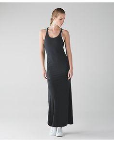 b0a1623df2 Lululemon Refresh Maxi Dress II - Heathered Black (First Release) - lulu  fanatics