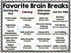 Brain Breaks to Get Your Students MOVING!