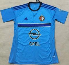 2016-17 Feyenoord Away Blue Thaiand Short Sleeves Soccer Jersey