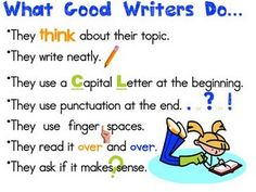 This is going into my kids' writers' notebooks on Tuesday!