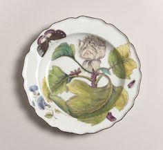 """Plate, """"Botanical"""", 1752–56, UK"""