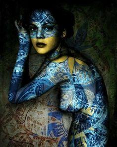 Amazing body paint art.