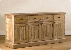 Rustic sideboard from anawhite. DIY
