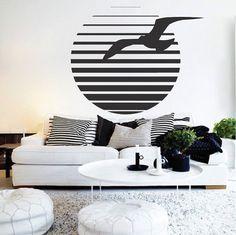 Sea Gull Wall Decal Sea Gull Wall Art Sea by TrendyWallDesigns
