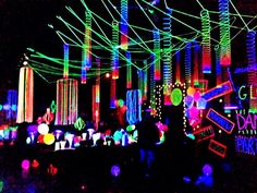 black light party invitations - Google Search