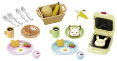 Sylvanian Families Breakfast Set this set is SO cool! Upon opening this set, it brought over an hour of play time.  Great fun!