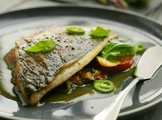 Sea Bream With Tomatoes, Basil And Mint