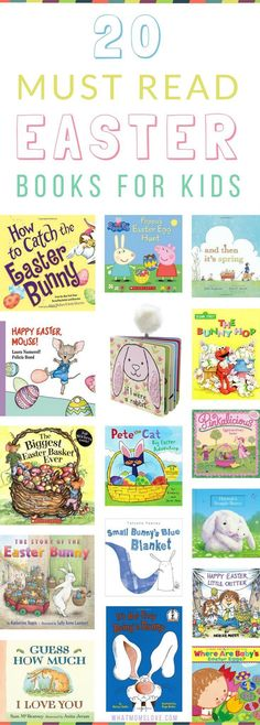 Easter Books for Kids | Children's Books about Easter and Spring | Perfect for Toddlers, Preschoolers, Grade and Elementary School Kids | Include these great reading books in your egg hunt or Easter Baskets this year!
