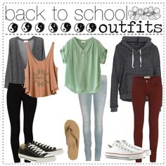 back to school outfits by chelseaoink on Polyvore featuring polyvore, fashion, style, DC Shoes, Mauro Grifoni, STELLA McCARTNEY, MARC BY MARC JACOBS, Converse and Rainbow