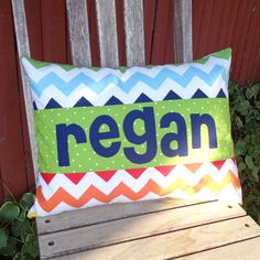 Chevron Personalized Pillow.