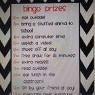 This document is used as a whole group classroom management tool.  One sheet is the way to earn bingo numbers and the other is the sheet for the pr...