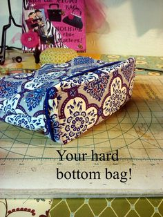 I love a hard bottom on a bag...I think it adds a touch of polish not to mention helps it be more stable and durable. This tutorial is h...