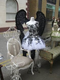 Dress form & wings