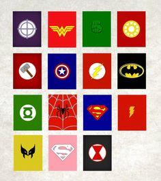 Superhero Name // Superhero Wall Art // Boy Wall by NothingPanda