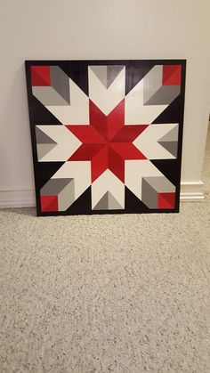 Maybe /Chevron Snowflake Barn Quilt Designs, Barn Quilt Patterns, Quilting Designs, Star Quilt Blocks, Star Quilts, Mini Quilts, Scrappy Quilts, Boy Quilts, Painted Barn Quilts