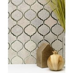 Veranda Niveous Quartz and Mirror Tile - Arabesque Tile - Shop By Tile Shape and Pattern