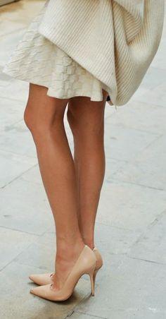 Nude Pointed Heels