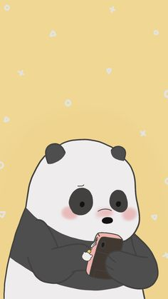 Pinned By Sejutakuota Cute Panda Wallpaper, Kawaii Wallpaper, Cute Wallpaper Backgrounds, Animal Wallpaper, Wallpaper Iphone Cute, We Bare Bears Wallpapers, Panda Wallpapers, Cute Cartoon Wallpapers, Cute Animal Drawings