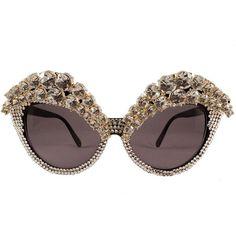 ae268ece3e3 Jimmy Choo Megan Round Mirrored Sunglasses ( 505) ❤ liked on Polyvore