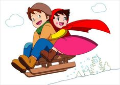 Reminds me of a certain scene, LOL! The beloved folk character Heidi and her friend Peter sledding in the Swiss Alps Comics Und Cartoons, Cartoons Love, Classic Cartoons, Heidi Und Peter, Heidi Heidi, Heidi Cartoon, Poetry For Kids, Old Anime, Animation