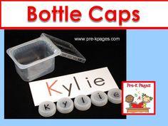 Creative ideas for using bottle caps in your preschool, pre-k, or kindergarten classroom.