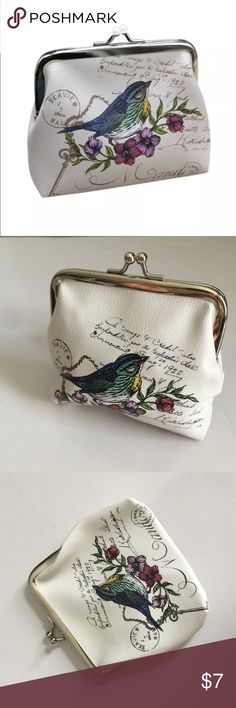 """Bird Wallet Card Holder Coin Purse Clutch Handbag Wallet Card Holder Coin Purse Clutch Handbag 100% brand new and high quality. Material: PU Leather  Size: about 12*10cm/4.7*3.9""""  you can put ID card, coin, cards, cash and other small items.  Lightweight, portable and fashionable. Bags"""