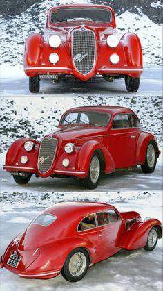 Alfa Romeo Mille Miglia Produced in 107 copies Alfa Romeo Cars, Race Cars, Antique Cars, Classic Cars, Automobile, Racing, Sport, Street, Vintage