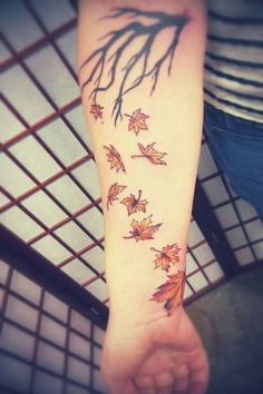 Fall lover tattoo