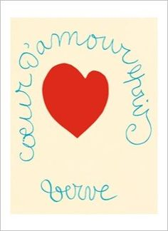 Coeur d'amour épris par Henri MATISSE Carte de voeux Nouvelles Images