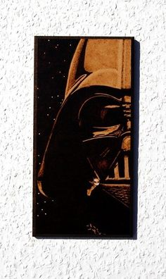 STAR WARS Darth Vader woodburned wall decoration by BaconFactory, $44.90