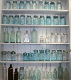 Collecting vintage bottles