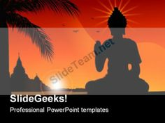 Budha Religion PowerPoint Template 0610 #PowerPoint #Templates #Themes #Background
