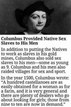 Did Christopher Columbus Seize, Sell, and Export Sex Slaves? Native American Quotes, Native American History, African American History, Native Quotes, Black Hebrew Israelites, Babylon The Great, Black History Facts, Strange History, Flirting Quotes For Him