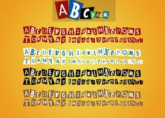 AbcPack PSD's - Magazine Lettering