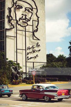 Potrait of Che Guevara on a building on Plaza de la Revolucion (Revolution Square) in Havana, Cuba.