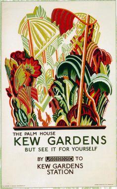 London Underground Poster from 1926 - Kew Gardens