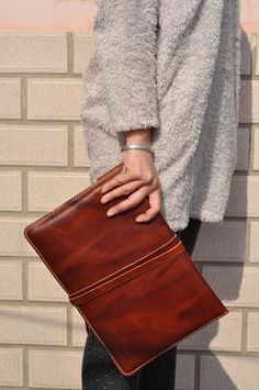 MacBook Air 13-inch Leather Laptop bag sleeve cover on Etsy, $88.00