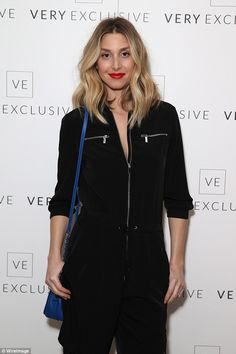 Flying visit: Whitney Port came across the pond especially for the event