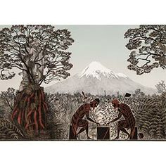 'Te Whiti and Titokowaru discuss the question, 'What is Peace?'' by Marian Maguire What Is Peace, Tapestry, Statue, This Or That Questions, Cloak, Greek, College, Blanket, Image