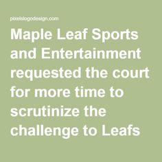 Maple Leaf Sports and #Entertainment requested the court for more time to scrutinize the challenge to Leafs by Snoop Trademark and logo used by the Rapper #SnoopDogg on his line of weed products. #logodesign