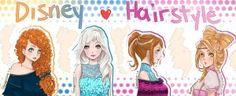 Disney Hairstyle by ShaniNeko