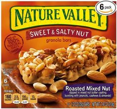 Nature Valley Sweet & Salty Nut Granola Bars, Roasted Mixed Nut, 1.2 Ounce, 6-count, (Pack of 6), 2016 Amazon Hot New Releases Breakfast Foods  #Grocery