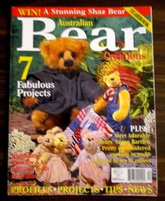 Australian Bear Creations vol.10 no.4 Yearbook 7 projects Collectable back issue #AustralianBearCreations