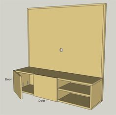 Add Doors if Desired Entertainment Center Makeover, Entertainment Center Kitchen, Entertainment Center Decor, Entertainment System, Console, Media Cabinet, Diy Tv, Floating, Mounted Tv
