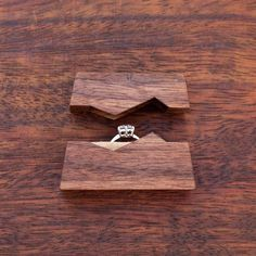 """Ring box """"The Mountain"""", made from black walnut wood - engagement ring box - proposal ring box - Made to order Wooden Ring Box, Wooden Rings, Wooden Jewelry, Wood Engagement Ring, Decoration Vitrine, Proposal Ring Box, Woodworking Box, Wedding Ring Box, Wood Boxes"""